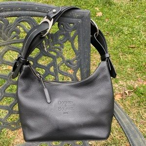 Black Pepple Leather Dooney & Bourne Hobo Purse